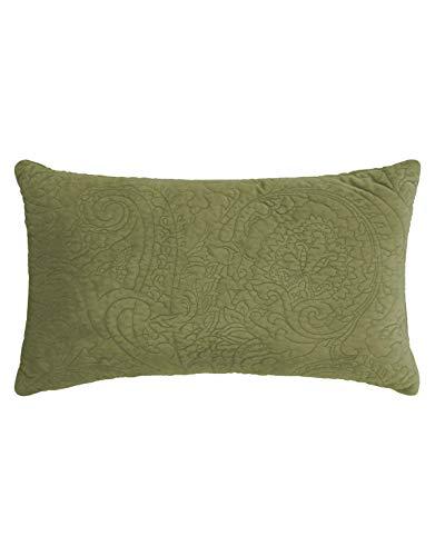 ESSENZA Zierkissen Roeby Uni Polyester Grün, 30x50 cm