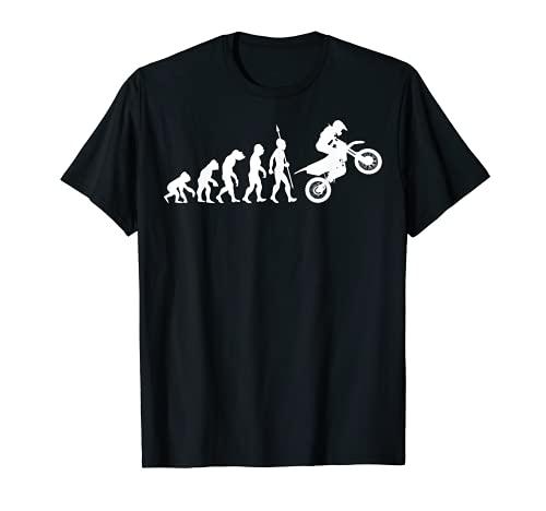 Motocross Motorrad Evolution T-Shirt Motorsport Biker Lustig