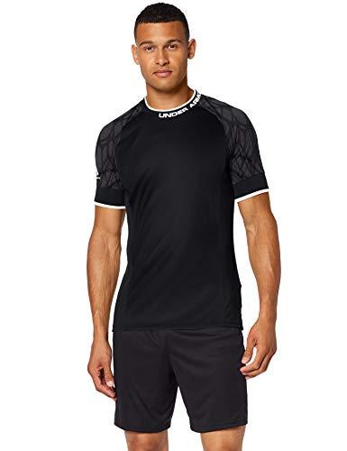 Under Armour Challenger III Novelty Top, sportliches und leichtes T-Shirt mit Anti-Odor Technologie, atmungsaktives und geschmeidiges Funktionsshirt für Männer Herren, Black / Black / White , 2XL