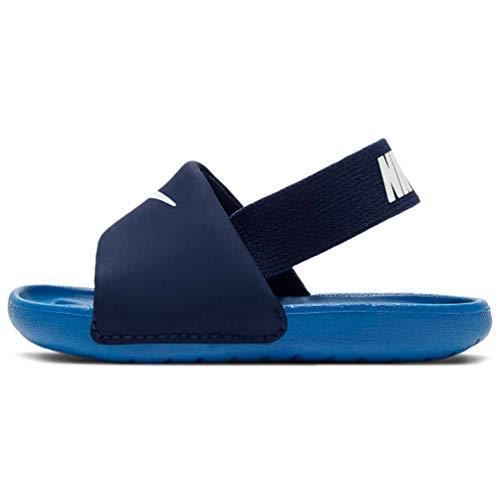 Nike Kawa Slide (TD), Sandal Unisex niños, Blue Void/Signal Blue-Pure Platinum, 25 EU