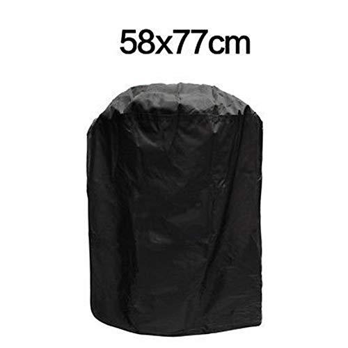 OA-Cover Housse De Protection Couverture De Meubles, Barbecue en Plein Air Autour De La Protection Solaire Imperméable Noir, Convient pour Barbecue/Four / Table/Chaise / Chauffage,Black,58 * 77Cm