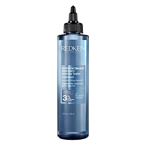 Redken Extreme Bleach Recovery Lamellar Water, SOS-Treatment für geschädigtes Haar nach der Blondierung, extra Pflege mit Cica, Anti-Haarbruch-Serum für strapaziertes Haar, 200 ml