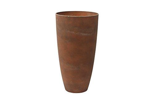 TS Pflanzgefäß, Cera-Mix Pflanzkübel Nova, frostbeständig und leichtgewichtig, rust, 36x36x67 cm, 136616