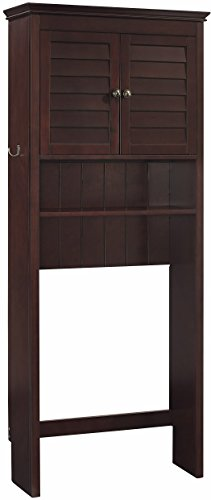 Crosley Furniture Lydia Space Saver Bathroom Cabinet, Espresso