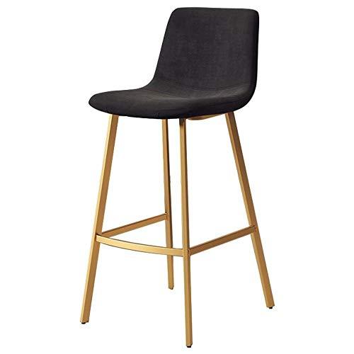 NYDZ barkruk moderne zwarte velvet barkruk, keuken eetkamerstoelen bar stoelen met rug, metalen voet Pub ontbijt