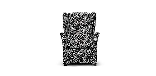 Otivm Design | Sillón Relax – Flora | Fantasía Negro