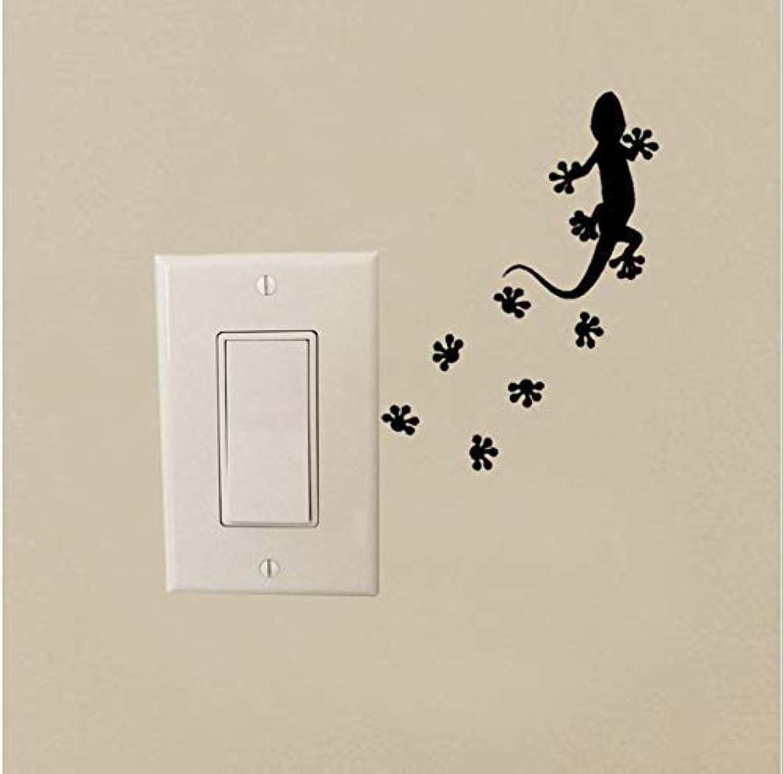 BMY Black Vinyl Wall Decal Animal Lizard Salamander Pet Shop Tracks Switch Stickers