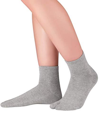 Knitido Traditionals Tabi Ankle | Calcetines japoneses tabi en algodón, cortos, Talla:35-38, Colores:Gris claro (103)