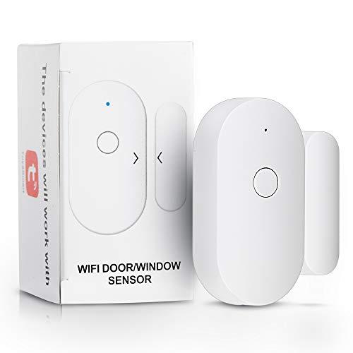 Smart WiFi - Sensor de puerta abierto/cerrada, interruptor magnético para ventana, sensor de apertura, control de seguridad, alarma de seguridad