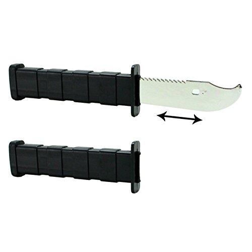 LG-Imports Trickmesser XL Einziehbares Messer Rambo Klinge Karneval Zaubern