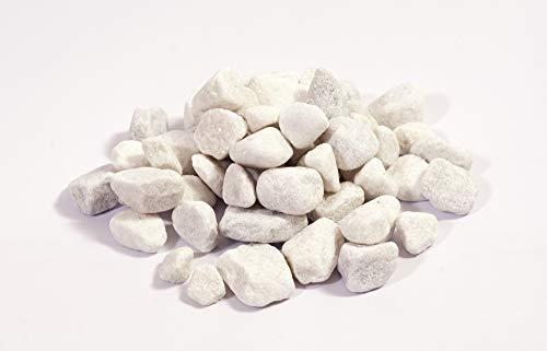 NWN Marmorkies | 15-25 MM | weiß | Dekosteine | Zierkies/Ziersplitt (500 KG Big Bag)