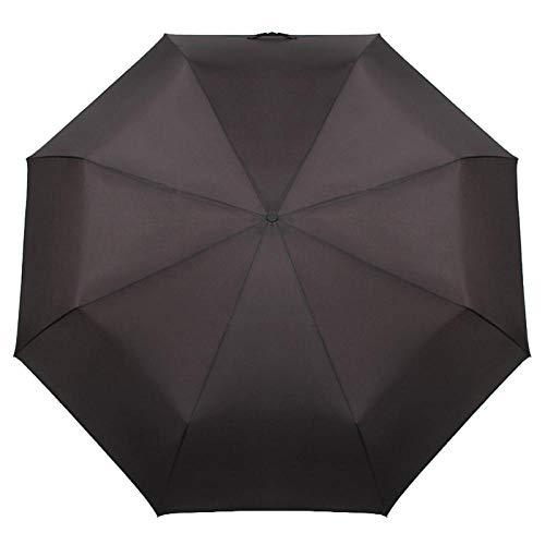 Parasol Parapluie Qualité 125 Cm Grand Parapluie De Voiture en Plein Air Pluie Femmes 3 Pliant Entièrement Automatique De Bussiness Durable Coupe-Vent Hommes Parapluies Noir