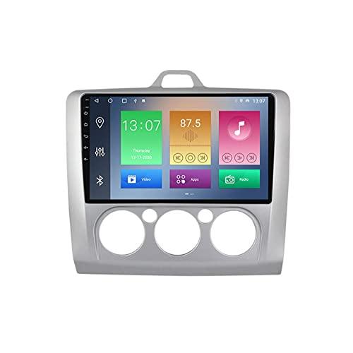 MGYQ Radio De Coche Android 2 DIN con Carplay 9 Pulgadas Pantalla Táctil Autoradio GPS Bluetooth WiFi RDS FM Radio para Ford Focus 2 2004-2011 con Cámara Trasera Control del Volante,1+16g