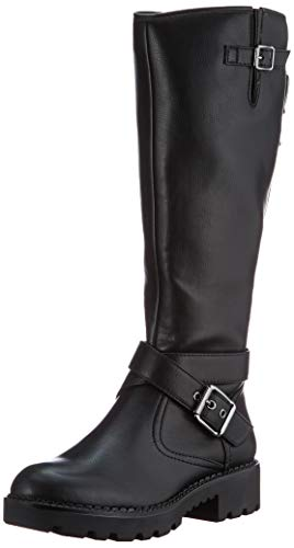 Buffalo Marcos, Botte tendance Femme, Black, 38 EU