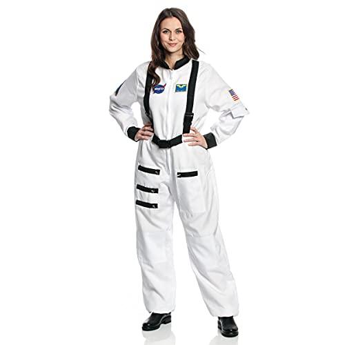 Kostümplanet® Astronauten-Kostüm für Damen Astronautin-Kostüm Weltall Astronauten-Overall Faschingskostüm Größe M