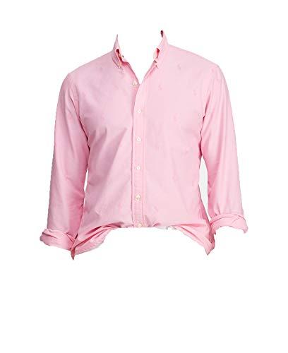 POLO RALPH LAUREN Herren-Hemd mit klassischer Passform und Knopfleiste - Pink - Mittel