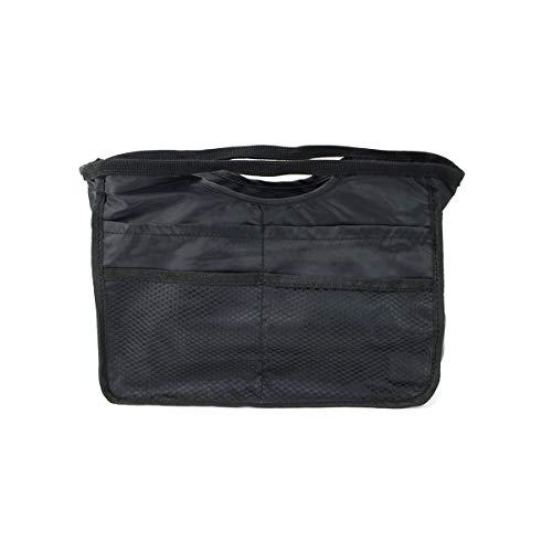 Lulu&berry バッグインバッグ A5 横 軽量 収納 コスメポーチ インナーバッグ アウトレット 黒 [無地] ブラック