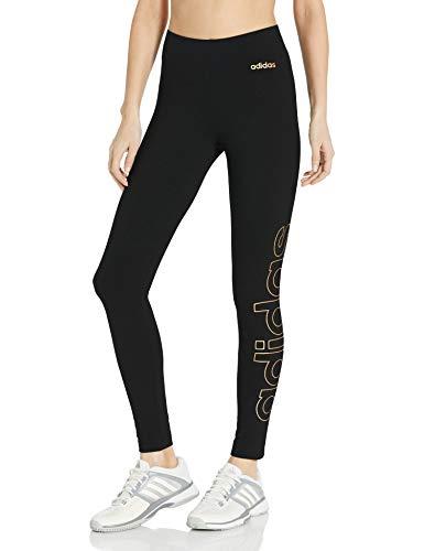 Adidas Medias de Marca Essentials para Mujer, Mallas de Marca Essentials, Negro y Cobre metálico, X-Large