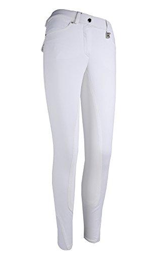 HKM Sports Equipment GmbH Pantaloni da Equitazione–Finlandia posten di 3/4Alos, Bianco, 36
