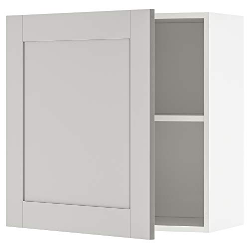 KNOXHULT armario de pared con puerta 60x31x60 cm gris