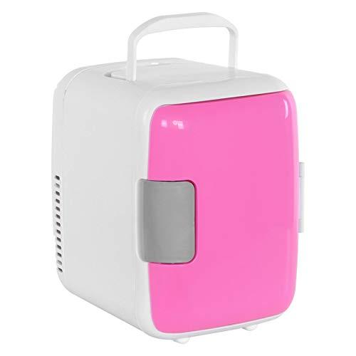 Emoshayoga Nevera portátil portátil Mini Nevera Multifuncional Nevera compacta Oficina para el hogar(Pink)