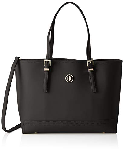 Tommy Hilfiger Honey Med Tote, Bolso Totes para Mujer, Negro (Black), 40 x 28.8 x 14.8 cm (L x W x H)