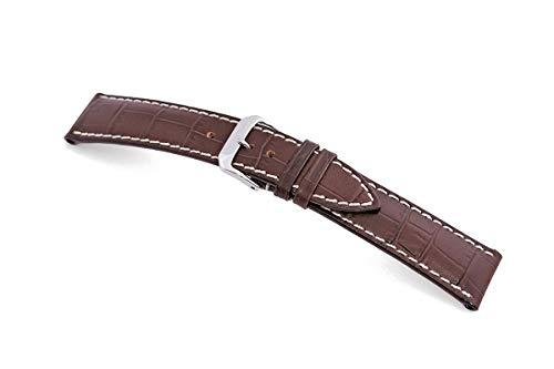 RIOS1931 New Orleans 51 - Correa para reloj de hombre (22 mm de ancho, 124/92 mm de largo), color marrón