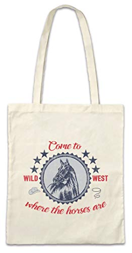 Urban Backwoods Come to The Wild West Hipster Bag Beutel Stofftasche Einkaufstasche