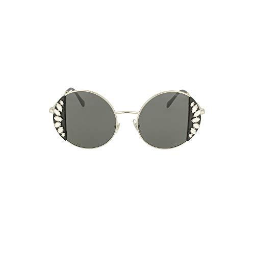 Miu Miu sonnenbrille MU 57VS 01E5S0 Silber grau größe 49 mm Damen