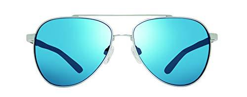 Revo Polarized Sunglasses Arthur Aviator Frame 58 mm, Chrome Frame, H20