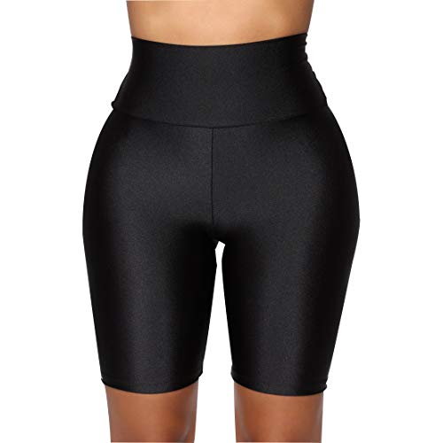 FeMereina Mujer Pantalones Cortos de Motociclista Elásticos Ajustados, Neón Brillante de Cintura Alta Pantalones Cortos Calientes Atractivos Leggings Active Gym Workout Yoga