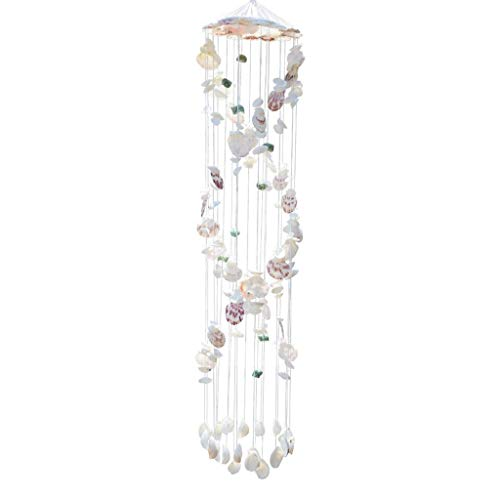 Wind Chimes Shell Wind Chime Tür Ornamente Natural Conch Geschenk Schlafzimmer Dekoration Shell Wind Chimes Windspiele (Color : A)