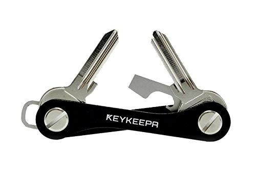 KEYKEEPA® Classic Black Key Organizer I Schlüssel Etui für 1-12 Schlüssel I ...