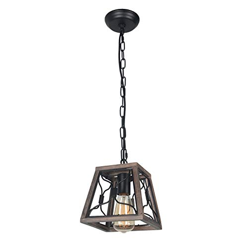 Beuhouz Wood Farmhouse Pendant Light for Kitchen Island,...