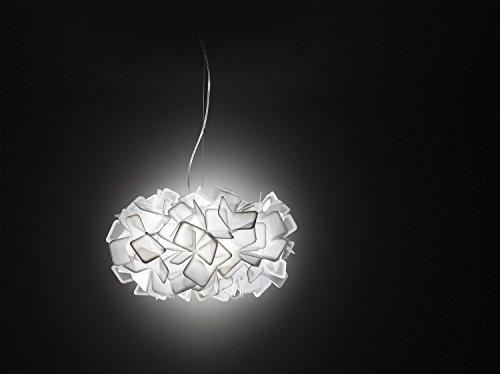 Clizia Kunststoff Hängeleuchte Slamp-Leuchten in Weiß weiß   Handgefertigt in Italien   Pendelleuchte Modern Dimmbar   Lampe E27
