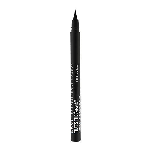 NYX Professional Makeup Eyeliner líquido That's The Point Eyeliner Punta  7  fina y ultra rígida Hella Fine color Negro