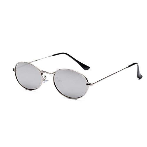 HAOMAO Gafas de Sol fotocromáticas ovaladas con Lentes Transparentes con Marco de aleación Uv400 Vintage para Mujer 5