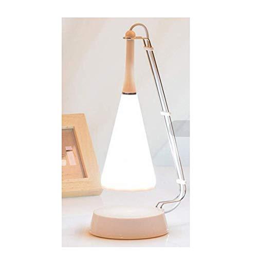 Ledlamp, oplaadbaar, USB-kabel, draadloos, moderne regelaar, touch-bediening, bluetooth luidspreker van audiolamp [energieklasse A++], wit