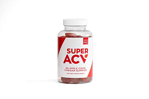 Super AVC 1000 mg Apple Cider Vinegar Gummies with Mother for Weight Loss and Metabolism – Includes Beet and Pomegranate Juice Powders for Immune Support and Detox Cleanse (60 Gummies)