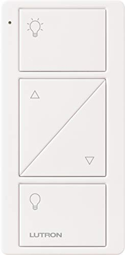 Lutron Pico Remote with Raise/Lower for Caseta Wireless Smart Dimmer Switches, PJ2-2BRL-GWH-L01, White
