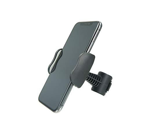 MANOS LIBRES - Telefoonhouder Scooter | Universeel | Zwart | Windscherm en Spiegel | Apple iPhone, Samsung, Huawei | Piaggio, Vespa, Zip, MP3, Kymco, Sym, Peugeot | Type S