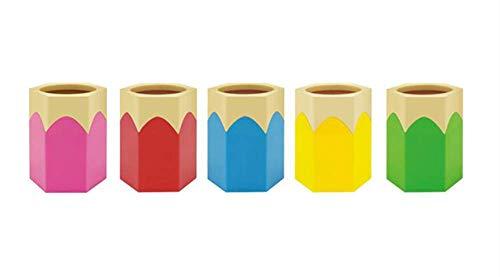 Portalápices para decoración de soporte de papelería Organizador de almacenamiento de oficina Vaso de lápices para mantener su escritorio ordenado (tipo rosa-recto), paquete de 1