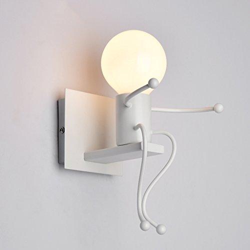 * & Perfect - lampe de chevet LED personnalisée européenne de la lampe de chevet moderne chambre simple escalier couloirs enfants lampe de mur
