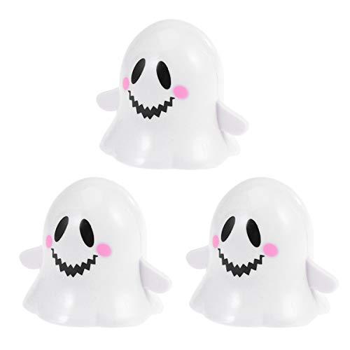 NUOBESTY Fantasma Reloj mecánico Saltando Juguetes Caminando Juguetes niño Accesorios de Halloween favorece niños niños 3 Piezas