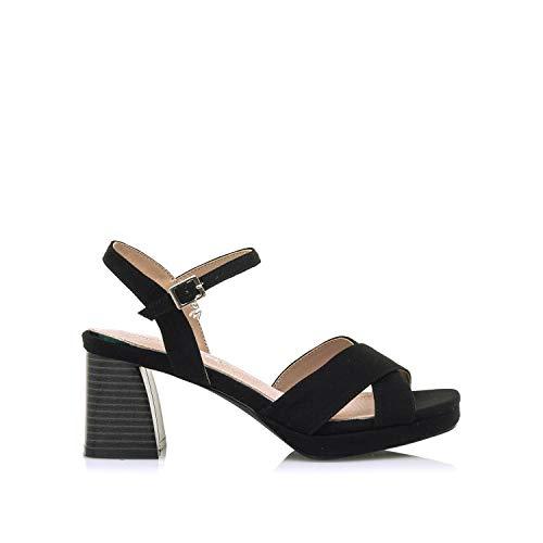 Sandalias Mujer MARIAMARE | Sandalias 67700 | MARIAMARE Mujer | Sandalias Zapato de tacón | Cierre con Hebilla | 46603 | Negro | 37
