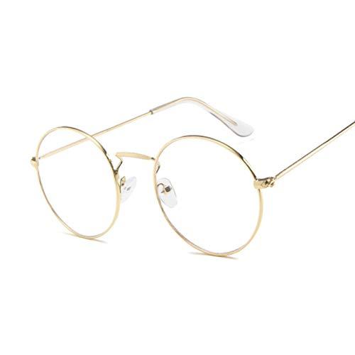 NJJX Gafas De Sol Redondas Vintage Para Mujer, Gafas De Sol Con Espejo De Color Caramelo, Gafas De Exterior Para Mujer Y Hombre, Fiesta Goldtrans