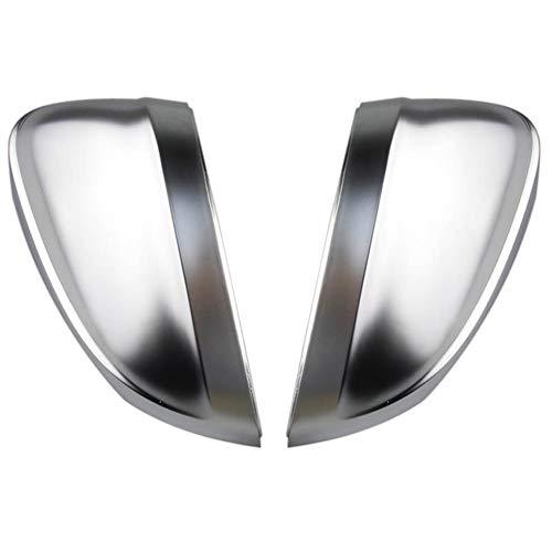 Repair Tools Cubre el reemplazo Dentro de Side Assist Espejo de Plata Agujero Cromo Mate de la Caja de visión Trasera Cubierta del Espejo de Shell for Audi A4 A5 B9 8W (Color : Plateado)