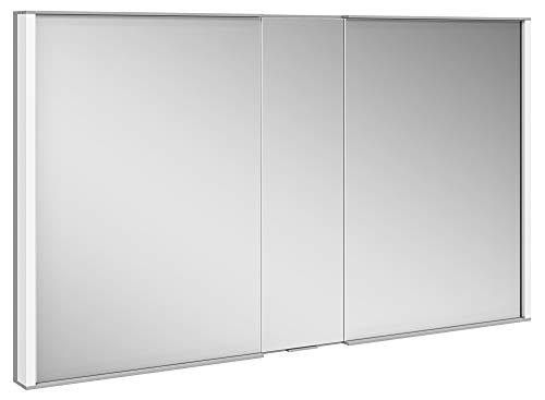 Keuco Spiegel-Schrank Unterputz Einbau, Variable LED-Beleuchtung, Badezimmer-Spiegelschrank, Aluminium-Korpus, mit 2 Türen, 120x70x14,9cm Royal Match