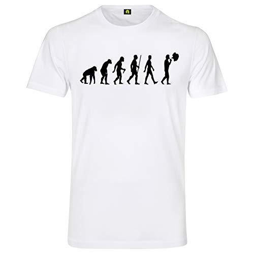 Evolution Dampfen T-Shirt | E-Zigarette | Vaping | Liqiud | Vaporizer | Dampfer Weiß 2XL