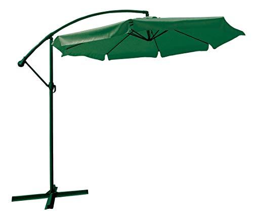 Parapluie en acier décent. flyn 300 cm vert